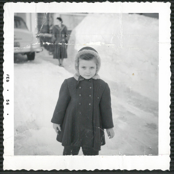 Diane 1956 - driveway on Semple Ave