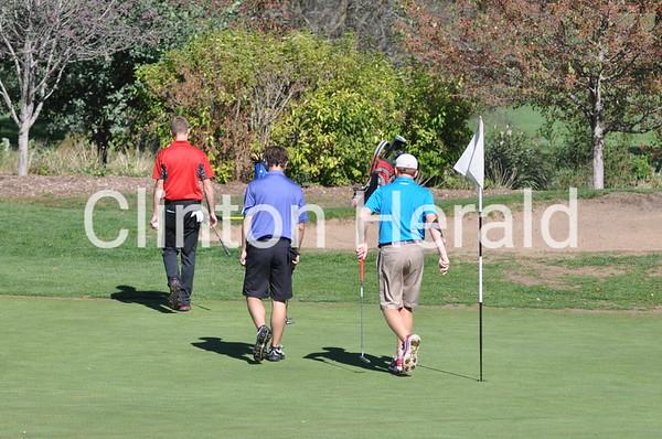 Clinton boys at district golf meet (10-7-13)