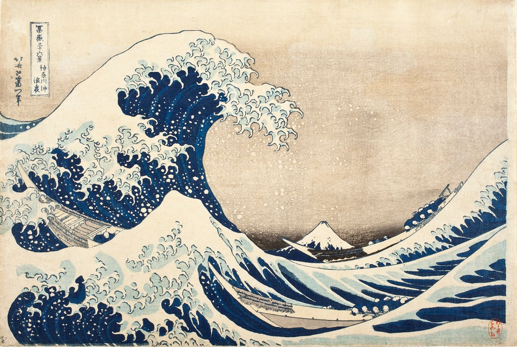 The Great Wave off Kanagawa, one of Hokusai's most iconic works.