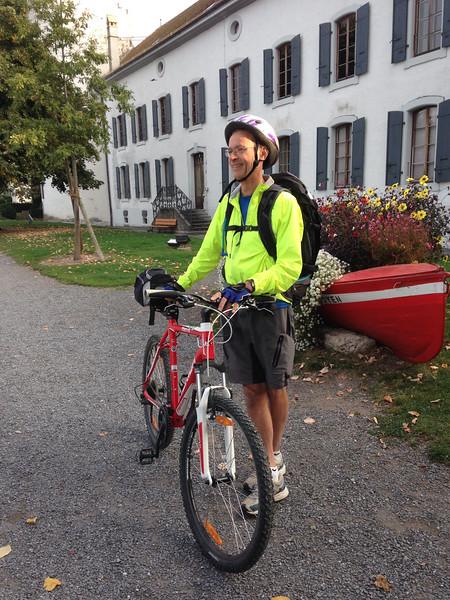 Mr. Piquet on the Vineyard Bike Trip