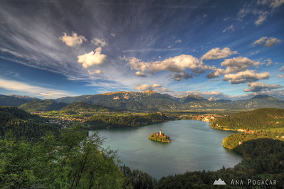 Bled from Osojnica hill - Sep 10, 2010