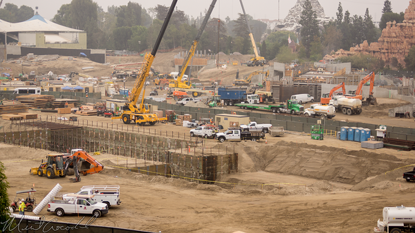 Disneyland Resort, Disneyland, Star Wars Land, Star Wars, Construction, Frontierland, Rivers of America, Rives, America, Critter Country, Mickey and Friends, Mickey, Friends, Parking Structure, Parking, Structure