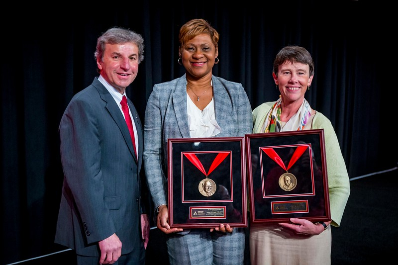 William T. Cefalu, MD, Felicia Hill-Briggs, PhD, ABPP and Jane E.B. Reusch, MD, during National Scientific & Health Care Achievement Awards Presentation and Outstanding Scientific Achievement Award Lectures