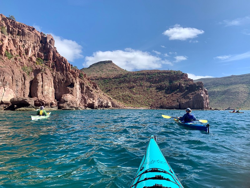 Lina Stock and David Stock Jr America's Adventure Couple kayaking in Mexico