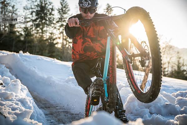 Bikepark Samerberg im Winter