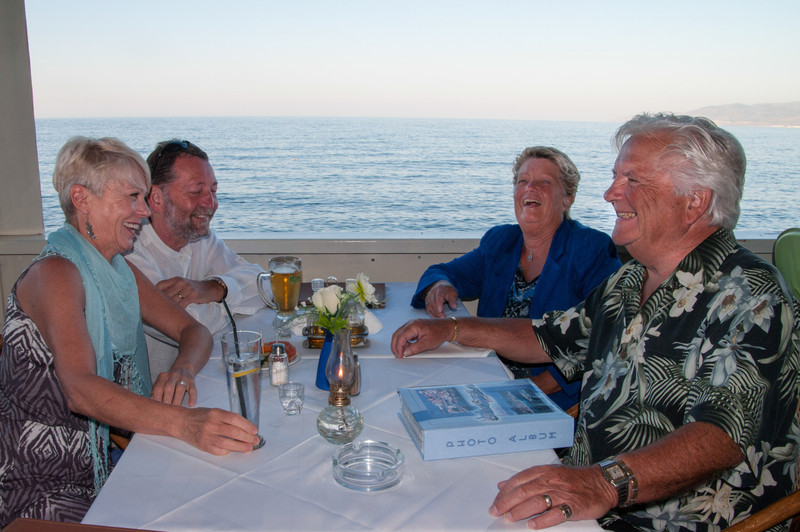 Roger & Betty with Peter and Jill whom they had met just the other night. Roger and Betty make friends wherever they go.