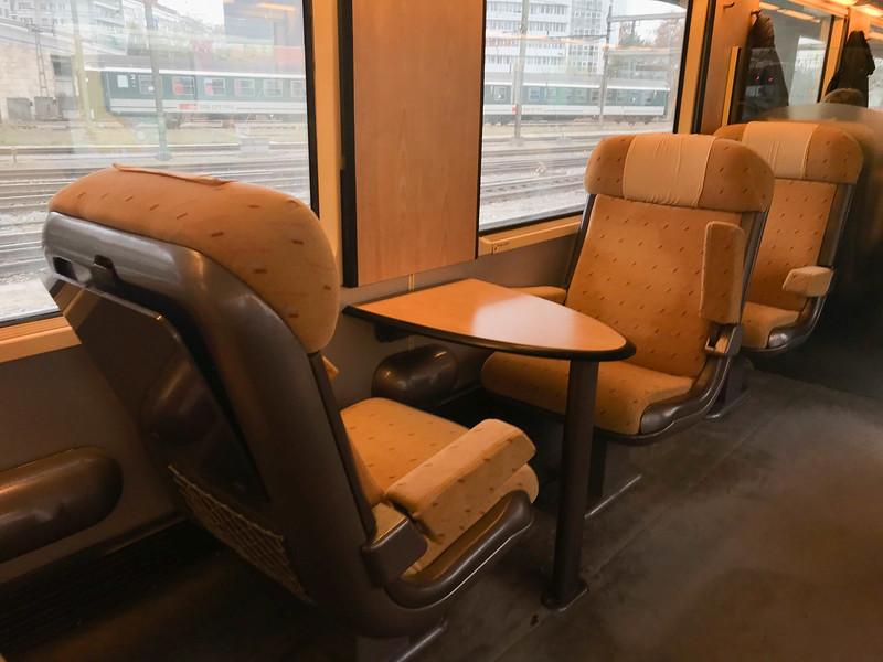 train first class cabin