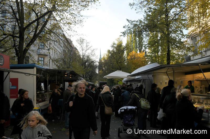 Autumn at the Saturday Kollwitzplatz Market - Berlin, Germany