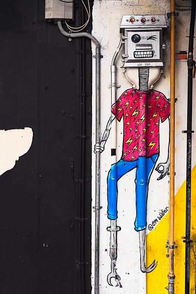 Street art by @em wafer, Wellington, NZ.