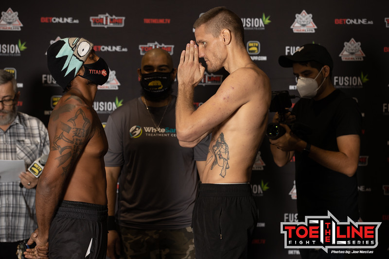 Toe the Line Series 2 Weigh-in and Face-Off