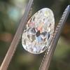 2.13ct Antique Pear Shape Diamond, GIA I, VS2 8