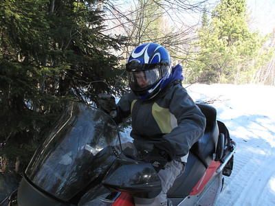 Snowmobiling and snowshoeing