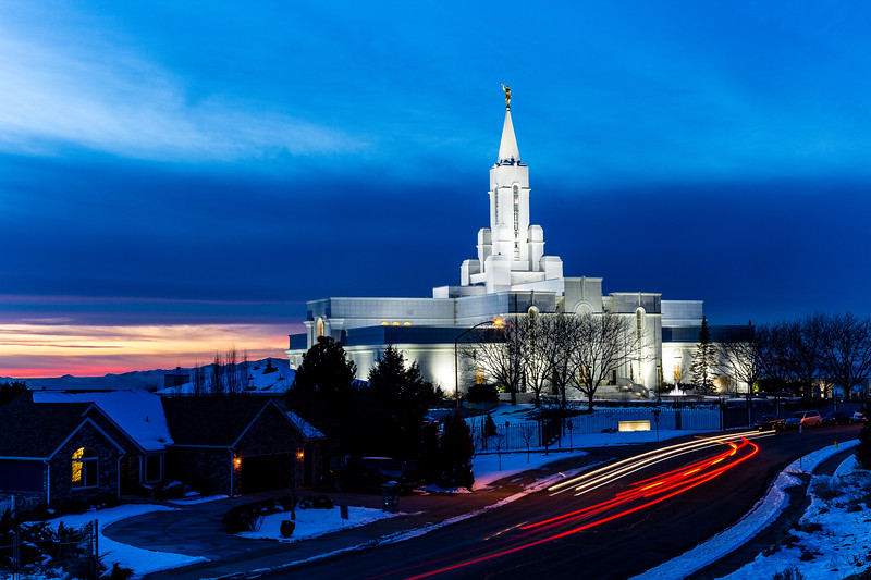 Bountiful Temple Sunset - January 2020