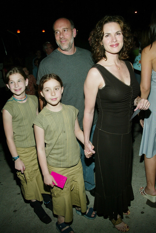 ". Elizabeth Vargas and husband Marc Cohn arrive at the after-party for the special screening of ""Charlie\'s Angels: Full Throttle\"" at Eyebeam Atelier June 25, 2003 in New York City. (Photo by Evan Agostini/Getty Images)"