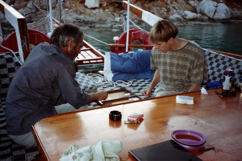 Men Playing Backgammon - Turkey