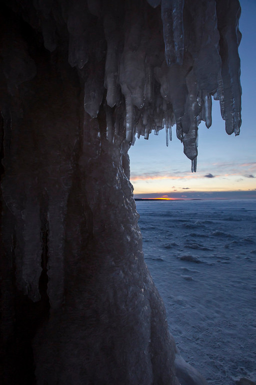 . The sunset on Lake Superior\'s Apostle Islands National Lakeshore.(Pioneer Press: Andy Rathbun)