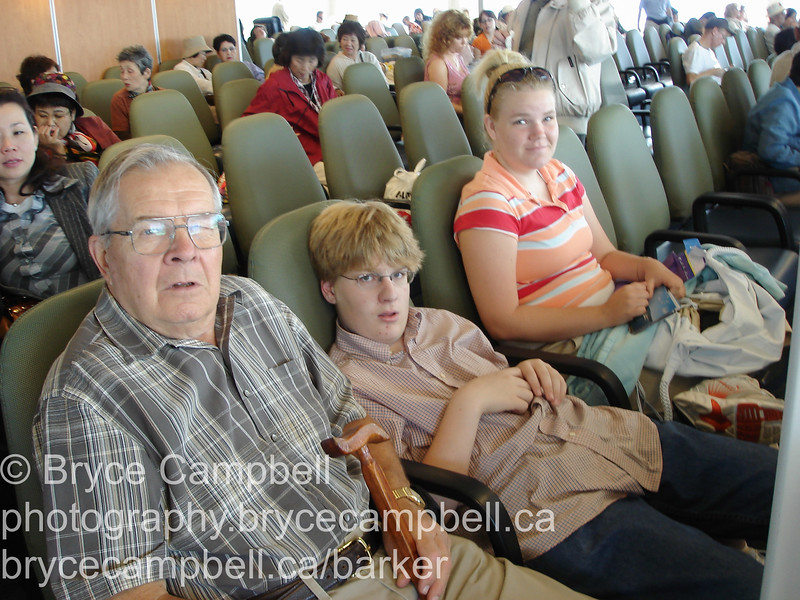 Nana and Papa, with Michelle and Bryce in Victoria for the day.