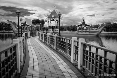 Bandar Seri Begawan, Brunei, Borneo Island. Omar Ali Saifuddin mosque.