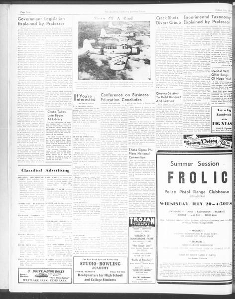 Summer Trojan, Vol. 17, No. 7, July 15, 1938