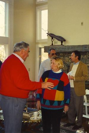 Staff Meeting at Bob Scott's Home