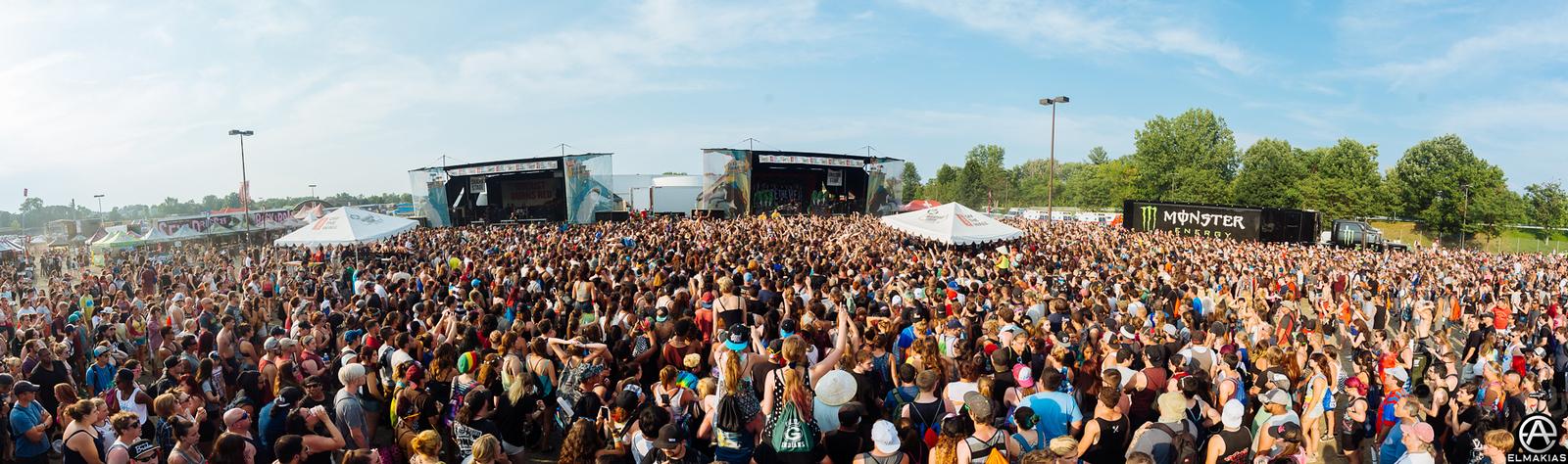 Pierce the Veil crowd at Warped Tour 2015 by Adam Elmakias