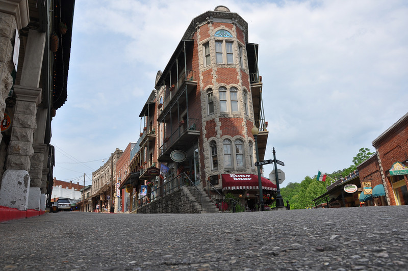 Eureka Springs, Arkansas. A very interesting town with steep, narrow streets. Perfect for MINI and drivers confident driving a stick shift.