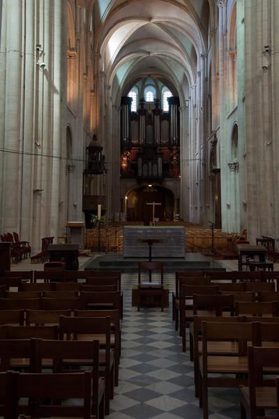 Caen Abbaye-aux-Hommes Nave and Choir