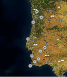 Map - Photo locations Portugal