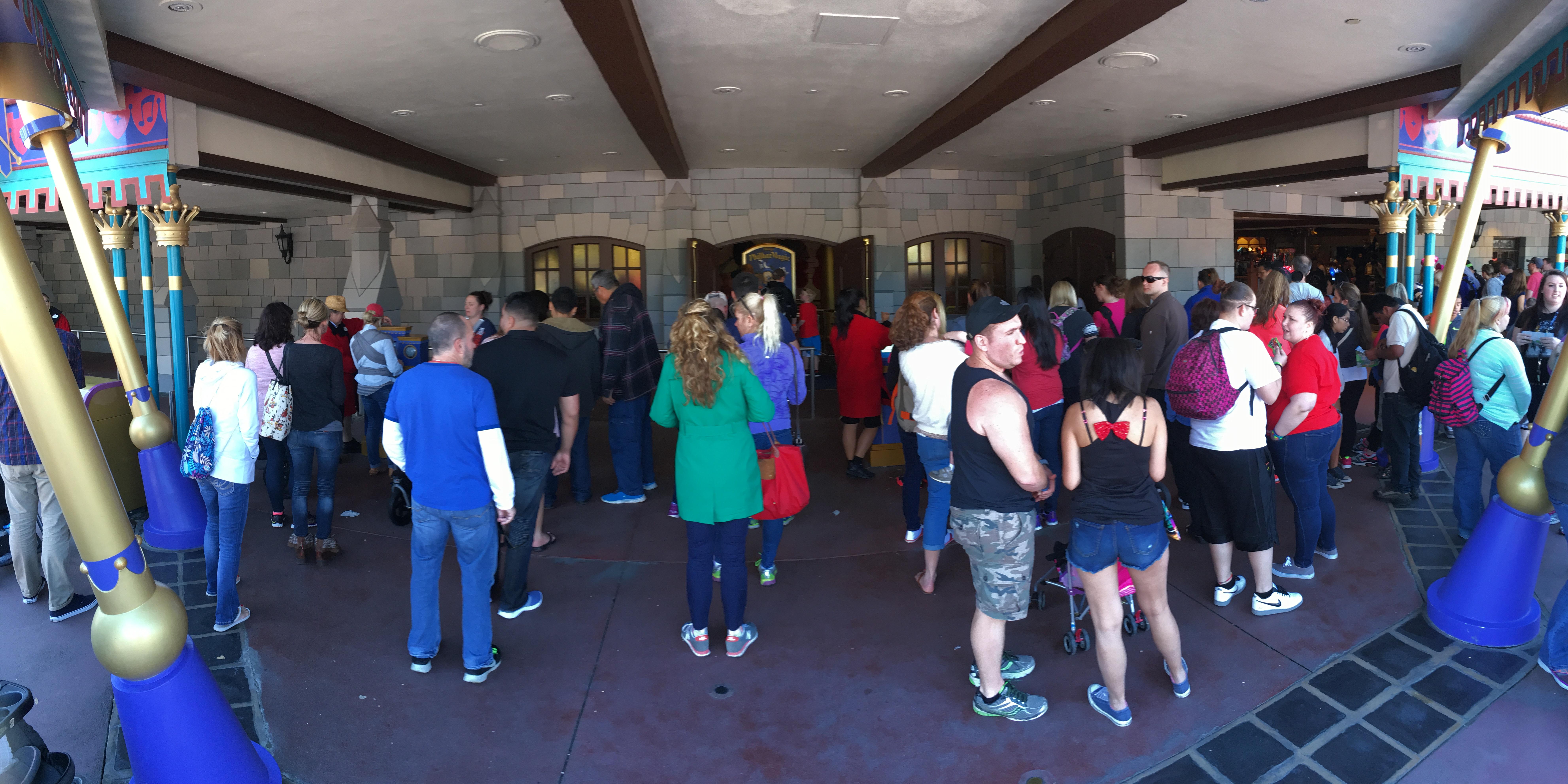 FastPass+ Kiosk Lines - Fantasyland - Walt Disney World Magic Kingdom