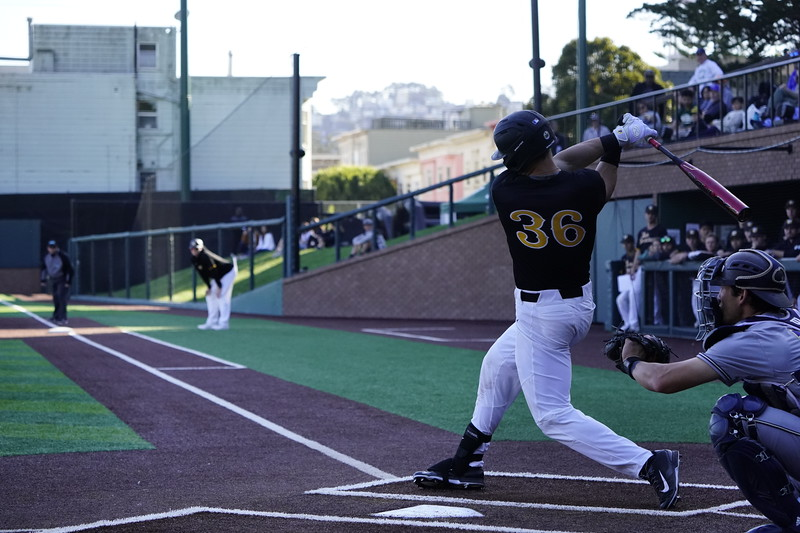 2/18/20: USF BSB vs UCD at Benedetti Diamond in San Francisco, CA.  Image by Chris M. Leung for USF Dons Athletics