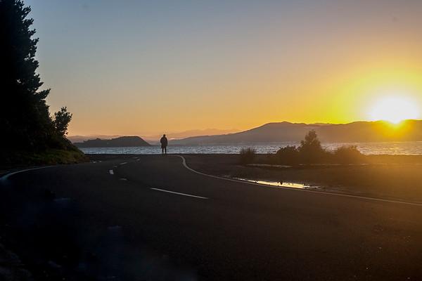 Images taken at dawn on 22 May 2017 of cyclists around Scorching Bay, Wellington, New Zealand. Copyright John Mathews 2017.  www.megasportmedia.co.nz