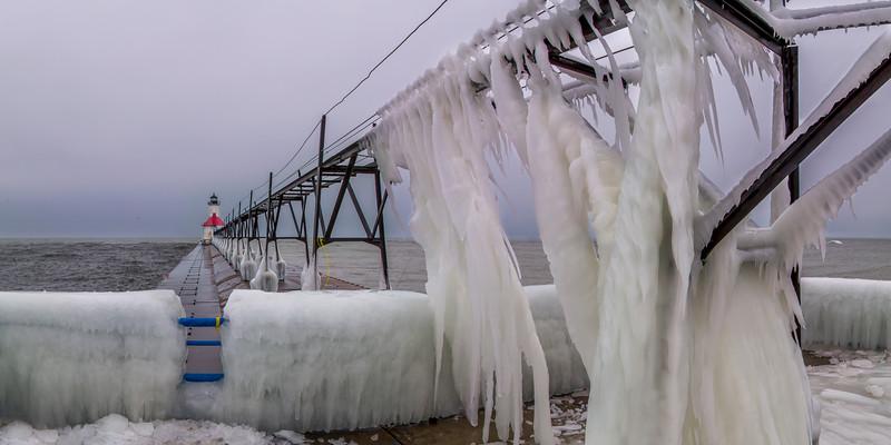 Icy Pier in St. Joseph