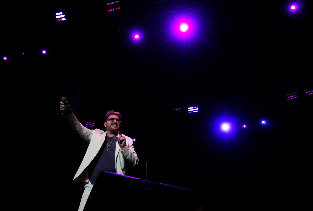 """. Chuck Negron performs \""""Celebrate\"""" during the Happy Together concert. Three Dog Night had such Top 40 hits as \""""Joy to the World,\"""" \""""Eli\'s Coming,\""""  \""""One\"""" and \""""Easy to Be Hard.\""""  (Pioneer Press: Scott Takushi)"""