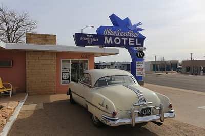 Route 66 through Tucumcari, New Mexico