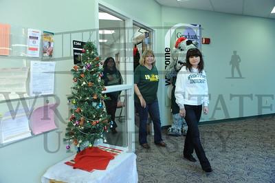 10284 Graduate School Staff with Rowdy Raider for Holiday Card 12-3-12