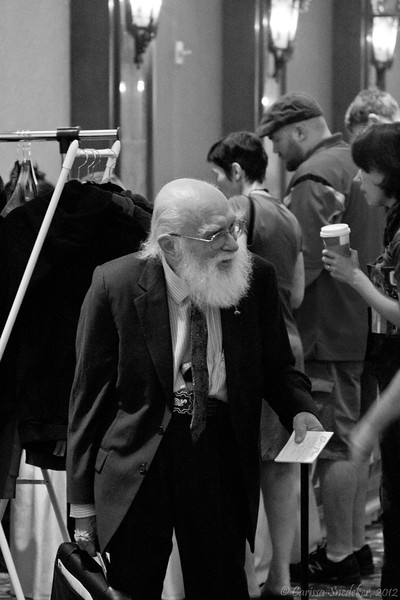 James Randi mingling in the hall. Thursday, July 12, 2012
