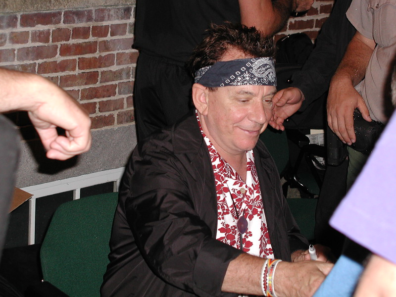 Eric Burdon signing autographs at Lowell's Boardinghouse Park