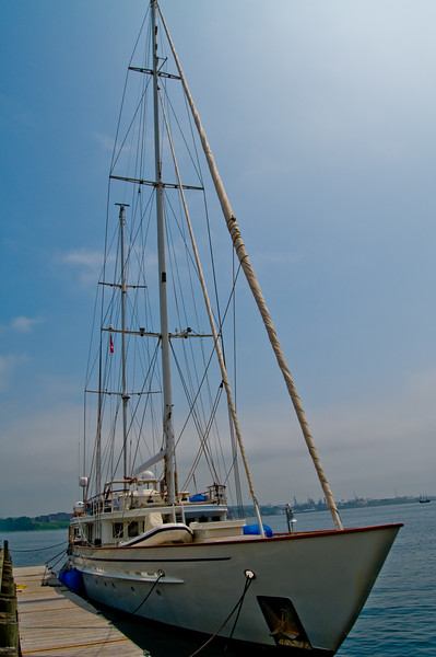 What a beautiful sailing vessel. It's docked at the Halifax Harbor
