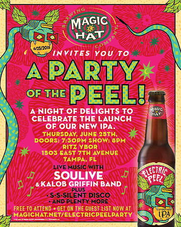 Magic Hat Electric Peel IPA Launch Party featuring SOULIVE