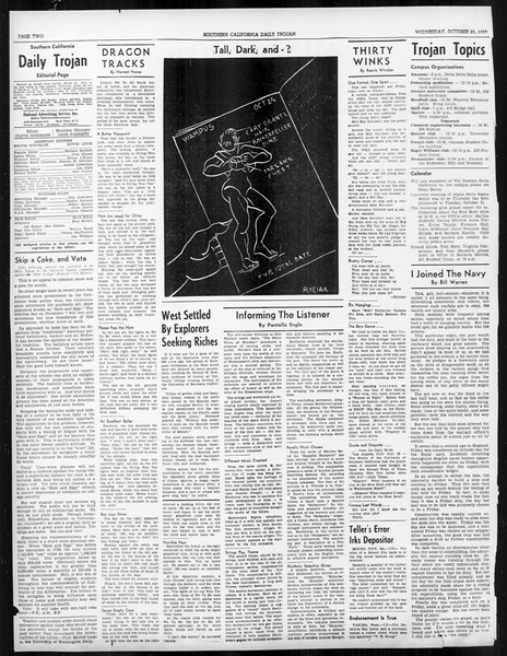 Daily Trojan, Vol. 31, No. 29, October 25, 1939