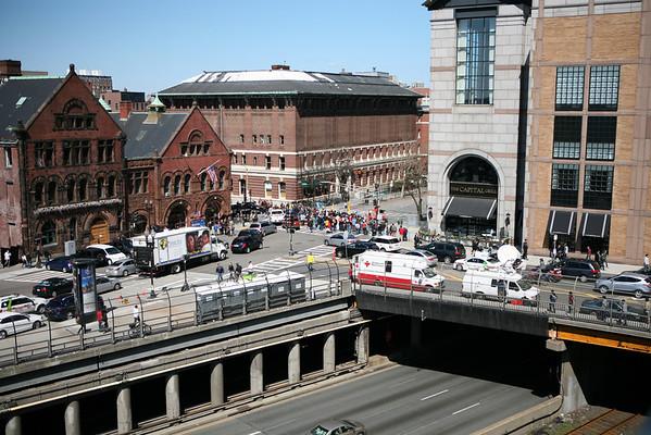 Boston Marathon - Boylston Street Memorial - April 22, 2013