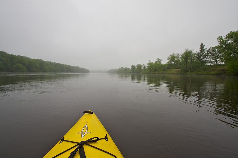 In the middle of the St. Criox River floating down stream. Not every day is just right for the camera.