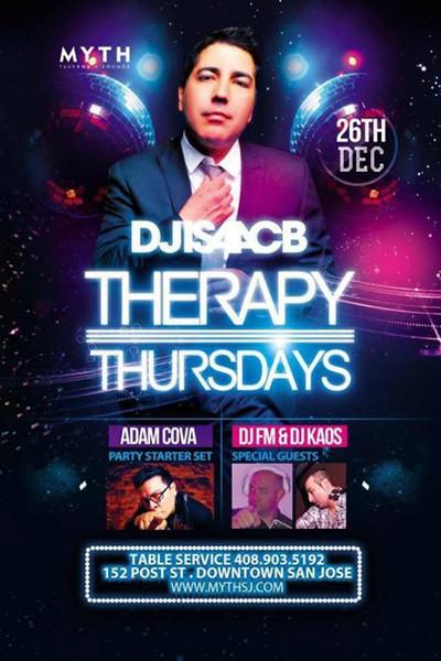 Therapy Thursdays @ Myth Taverna & Lounge 12.26.13