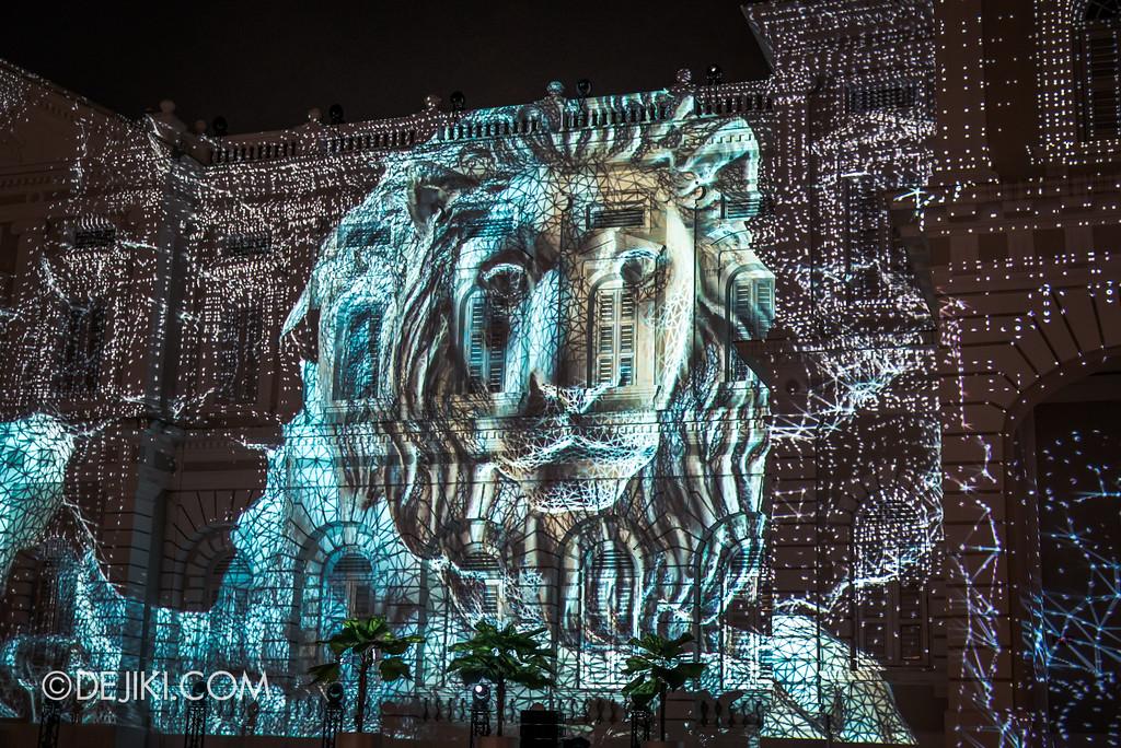 Singapore Night Festival 2017 / Convolutions by EZ3kiel (FR) lion