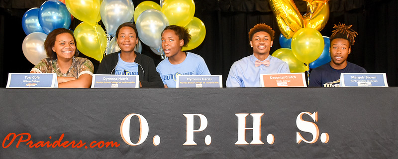 OPHS Athletic Scholarship Signing 2018