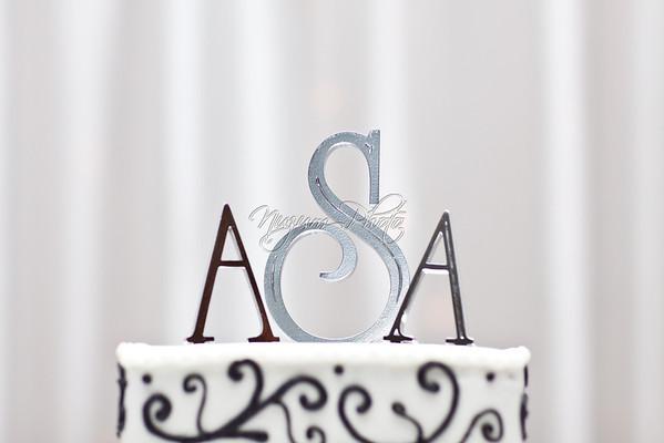 Cake Cutting - Angela and Adam