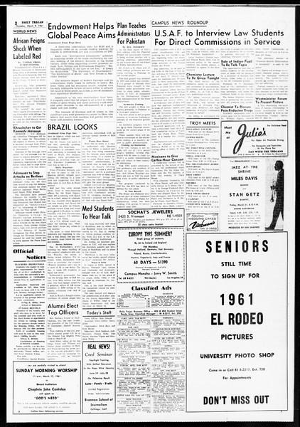 Daily Trojan, Vol. 52, No. 87, March 09, 1961