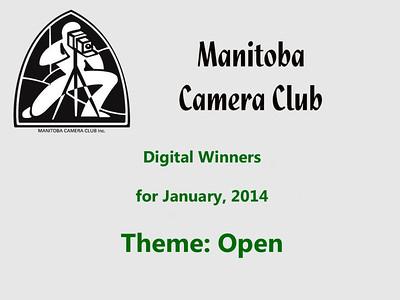 Digital Winners for January 2014 (Open Theme)