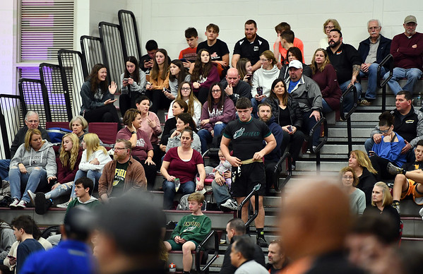 1/4/2020 Mike Orazzi | StaffrPart of the crowd at Saturday's wrestling tournament at Bristol Central High School. r