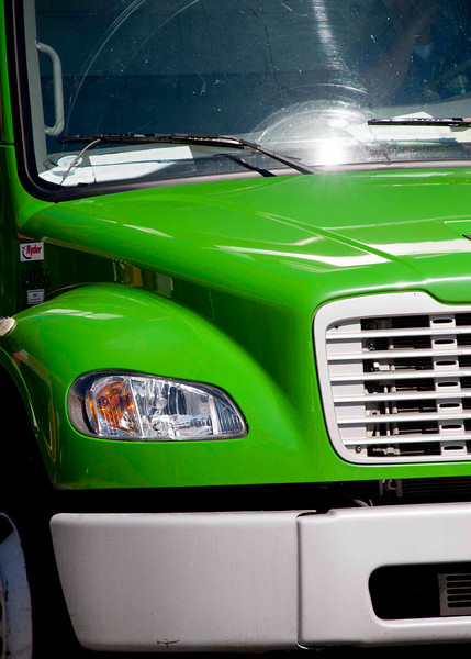 Firetruck, green not red . . .